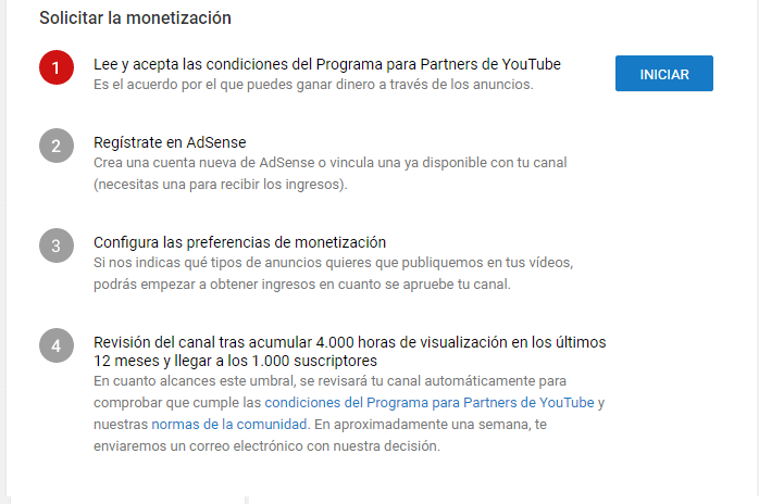 Vincular Adsense con Youtube